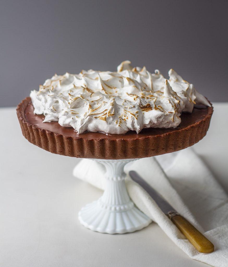 Recette de la Tarte au chocolat meringuée