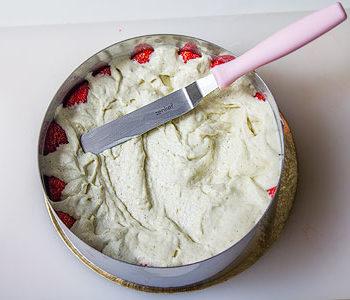 Recette entremet fraisier rhubarbe