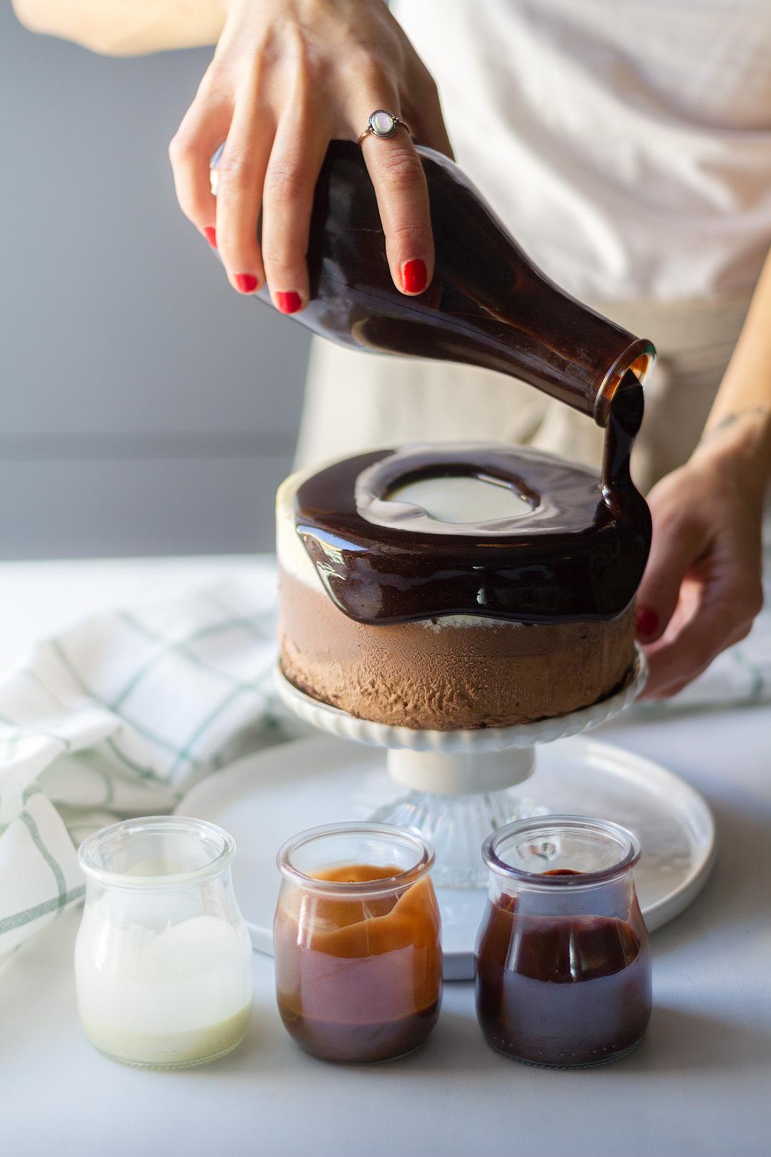 Blog pâtisserie Ma vie caramel Entremet chocolat