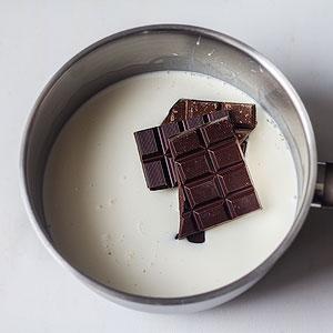 Photo étape recette crème dessert chocolat