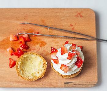 Recette de choux chantilly fraises