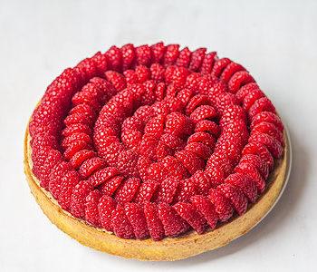 Recette tarte framboise pistache